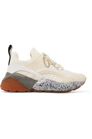Stella McCartney Eclypse faux leather and suede sneakers