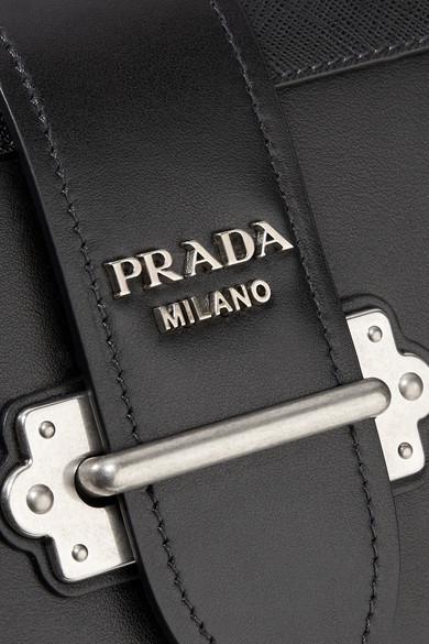 d93ea1e009db Prada | Cahier leather shoulder bag | NET-A-PORTER.COM