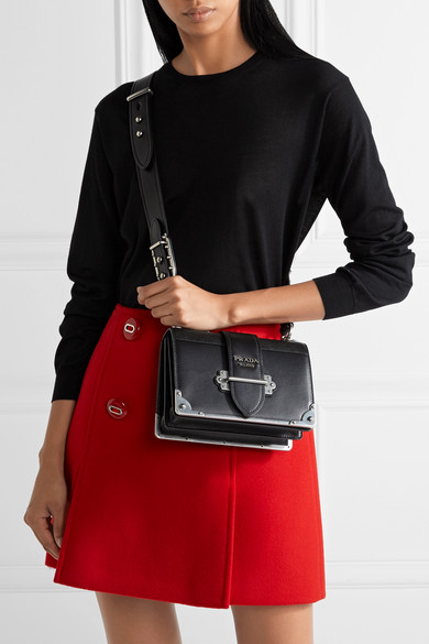 fd28208d0ee955 Prada | Cahier leather shoulder bag | NET-A-PORTER.COM