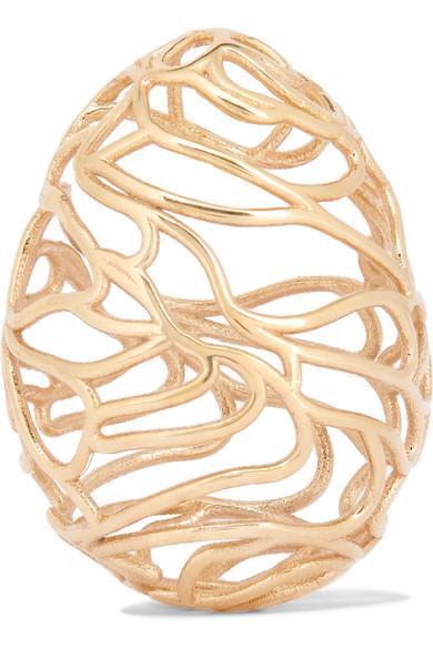 Scribble 9 Karat Gold Earring by Sarah & Sebastian