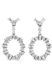 Again 18-karat white gold diamond earrings