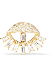 Sleepy Eye Ohrring aus 18 Karat Gold mit Diamanten