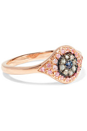 Cats Eye 18-karat rose gold sapphire ring