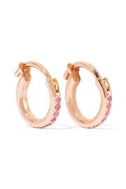 Ileana Makri 18-karat rose gold sapphire hoop earrings