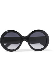 Gucci Round-frame glittered acetate sunglasses