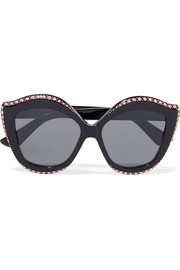 Gucci Embellished cat-eye acetate sunglasses