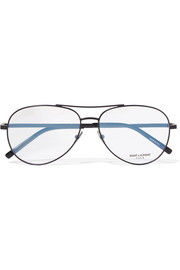 Saint Laurent Aviator-style metal optical glasses