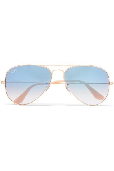 5421409d77c8 Ray-Ban. Aviator gold-tone sunglasses