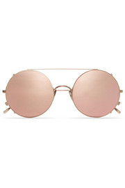 Sunday Somewhere Valentine round-frame bronze-tone sunglasses