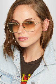 Jesse square-frame gold-tone sunglasses