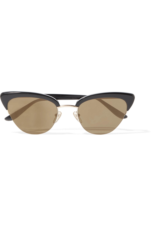 Sunday Somewhere Pixie cat-eye gold-tone and acetate sunglasses