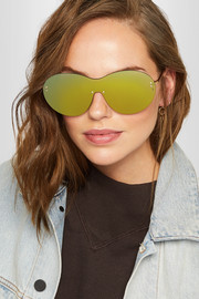 Iris D-frame gold-tone mirrored sunglasses