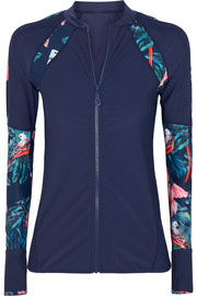 Haleakala printed rash guard