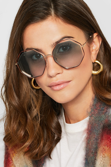 Chlo 233 Poppy Octagon Frame Acetate And Gold Tone