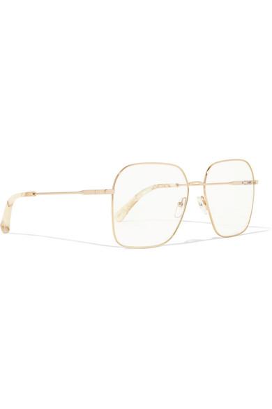 a50668eaa5e Chloé. Palma square-frame gold-tone optical glasses