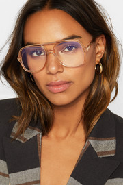 Chloé Patty aviator-style acetate optical glasses