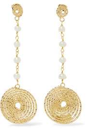 Rosantica Armonia gold-tone pearl earrings