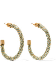 Rosantica Incontro gold-tone cord hoop earrings