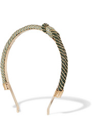 Incontro cord and gold-tone headband
