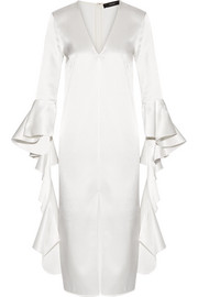 Ellery Ruffled satin-crepe dress