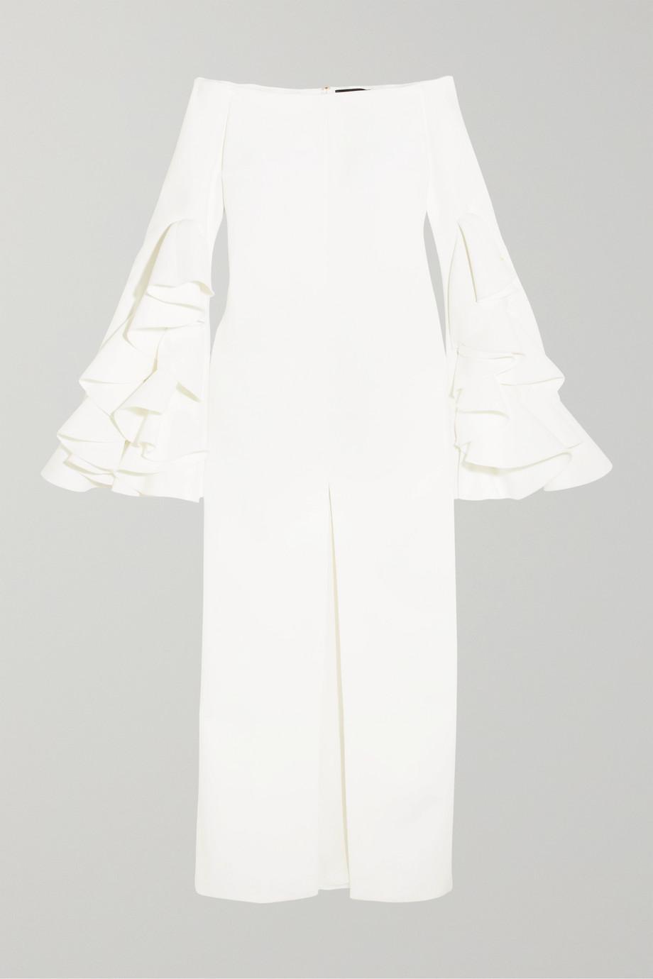 Ellery Crêpe-Robe mit Rüschen