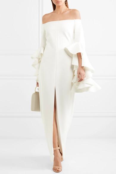 Ellery Ruffled Crepe Gown