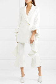 Ellery Cropped crepe flared pants