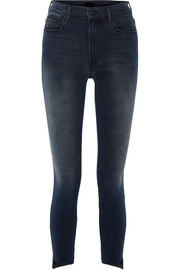 Mother The Stunner cropped frayed mid-rise skinny jeans