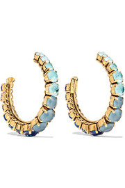 Erickson Beamon Rhapsody gold-tone crystal hoop earrings