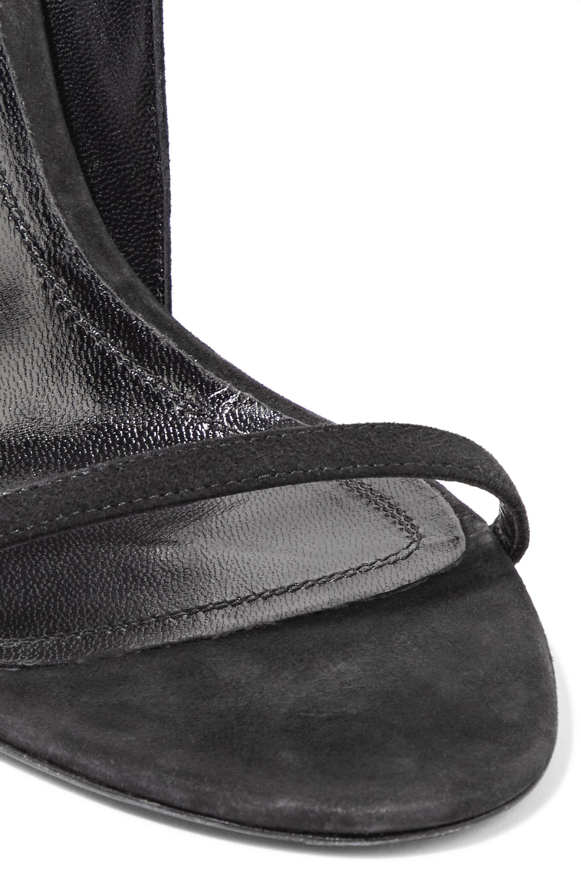 CALVIN KLEIN 205W39NYC Camrin ruffle-trimmed suede sandals