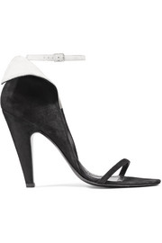 CALVIN KLEIN 205W39NYC Camrin ruffle-trimmed suede sandals