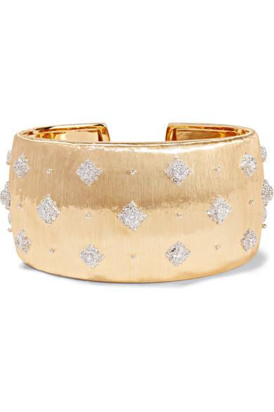 Buccellati - Macri 18-karat Yellow And White Gold Diamond Cuff - one size