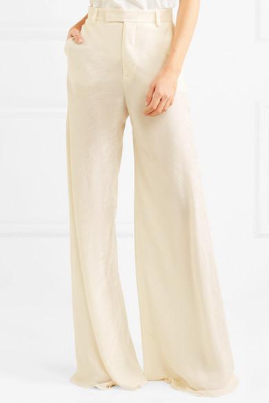 Silk-jacquard Wide-leg Pants - Ivory Etro 0zqeq4xX2
