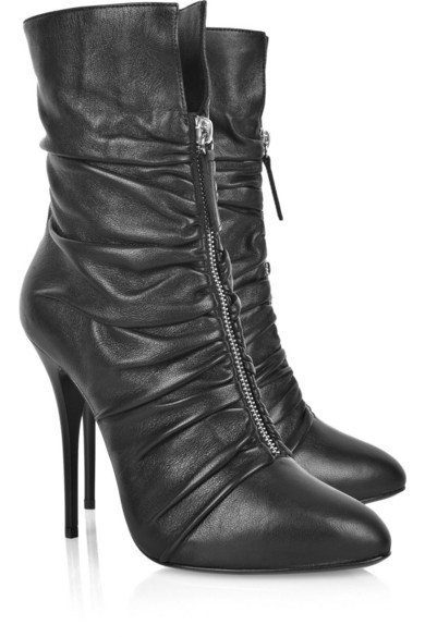 Giuseppe Zanotti Ruched Leather Ankle Boots outlet latest collections purchase outlet best store to get WmzD35Qa9