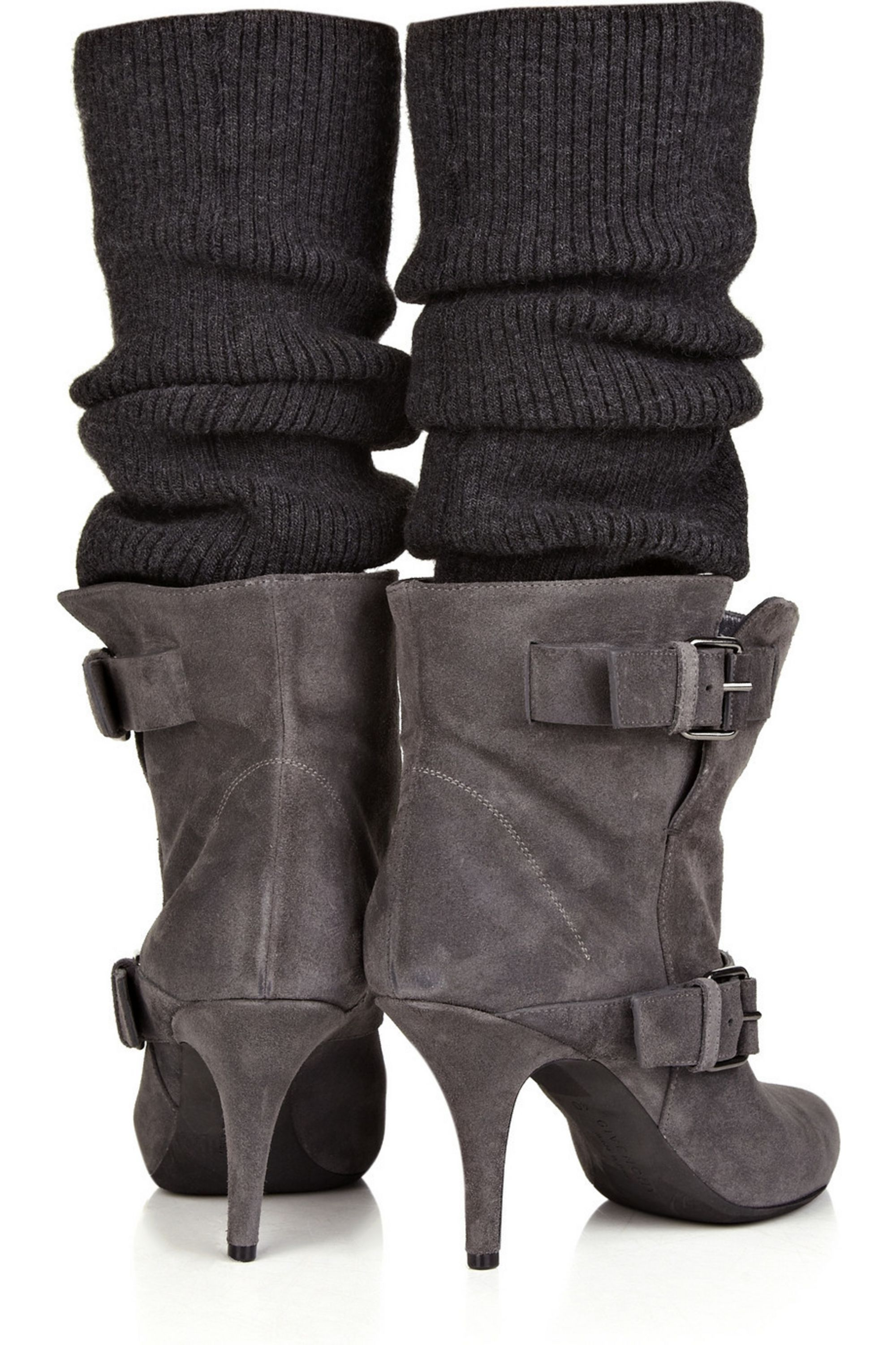 Givenchy Stocking-detailed suede ankle boots