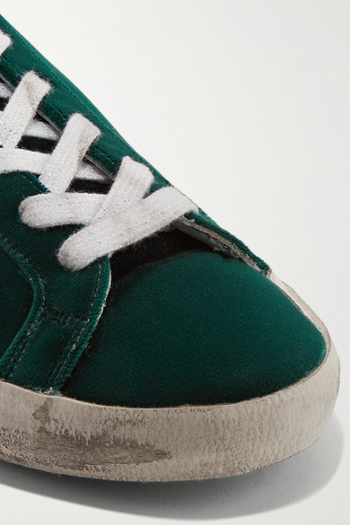 Golden Goose Deluxe Brand Superstar Sneakers aus Samt mit Glitter-Detail