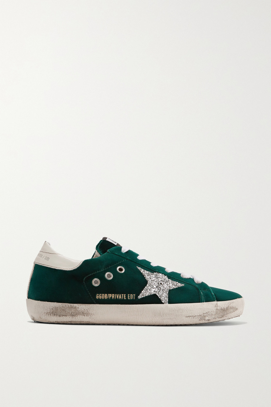 Golden Goose Superstar glittered velvet sneakers