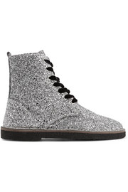 Golden Goose Deluxe Brand Glittered leather ankle boots