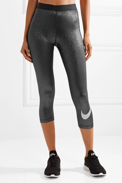 Nike Sparkle Pro Cool verkürzte Leggings aus Dri-FIT-Stretch-Lamé