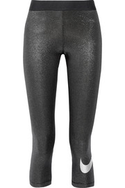 Nike Sparkle Pro Cool cropped Dri-FIT stretch-lamé  leggings