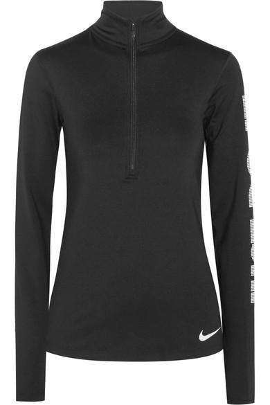 Nike Sparkle Pro Warm bedrucktes Oberteil aus Dri-FIT-Stretch-Jersey