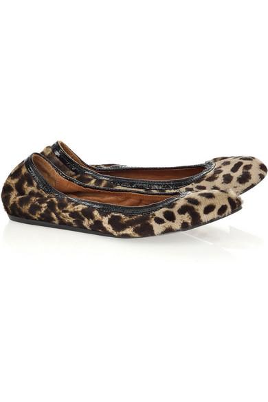 efe65c5a2e3 Lanvin | Leopard-print calf hair ballerina flats | NET-A-PORTER.COM