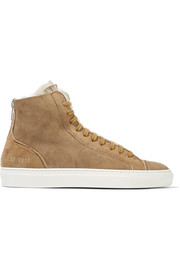 Tournament High-Top-Sneakers aus Veloursleder und Shearling