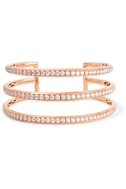 Bracelet en or rose 18 carats et diamants