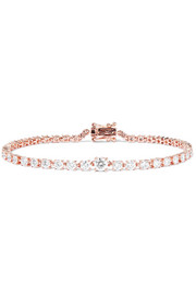 Rope 18-karat rose gold diamond bracelet
