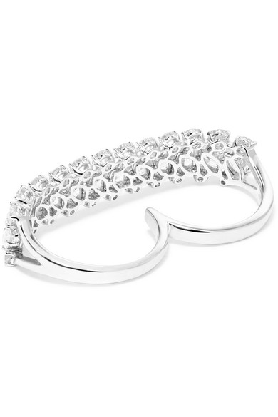 18-karat White Gold Diamond Two-finger Ring - 6 Anita Ko LLn2uaJnRV