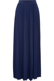 MICHAEL Michael Kors Perma pleated stretch-jersey maxi skirt