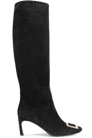 Trompette suede knee boots