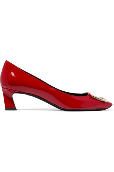 Roger Vivier - Trompette Embellished Patent-leather Pumps - Red
