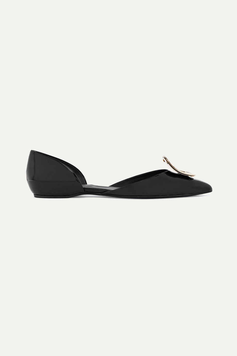 Roger Vivier Dorsay patent-leather point-toe flats